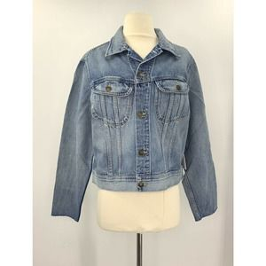 Re/Done 70's Rodeo Distressed Denim Jean Jacket